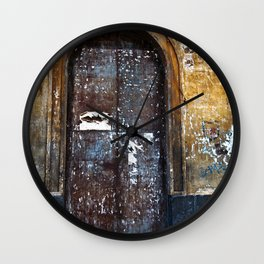 Old Sicilian door of Catania Wall Clock