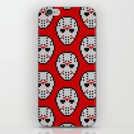 Knitted Jason hockey mask pattern iPhone Skin