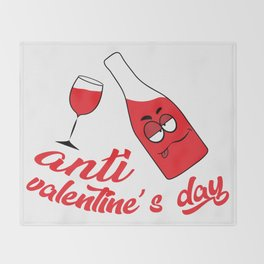 Anti valentine's day Throw Blanket