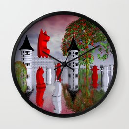 guardians of chess castle Wall Clock