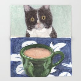 Coffee with Henry #4 Throw Blanket