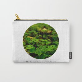 Irish Saying with Clover Carry-All Pouch