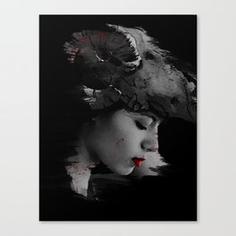 skull girl Canvas Print