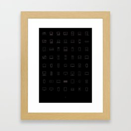 Apple products Framed Art Print