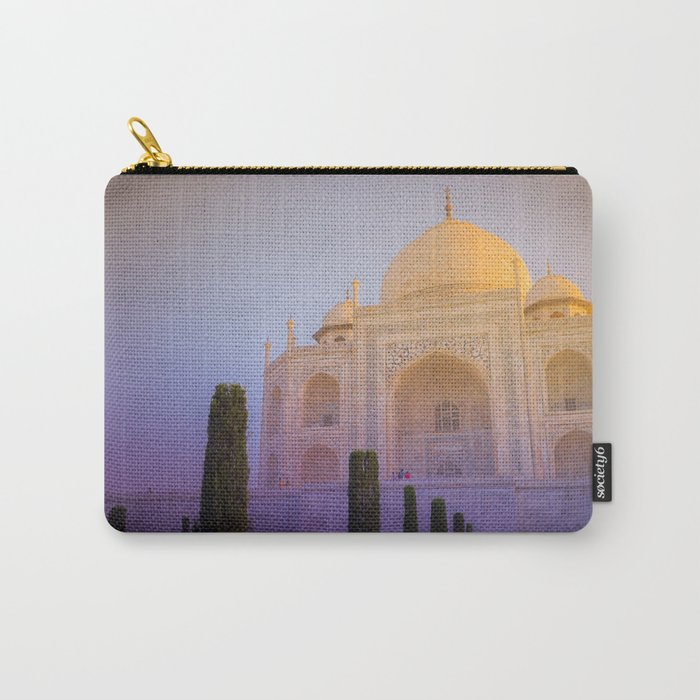 Morning Colors over Taj Mahal Carry-All Pouch