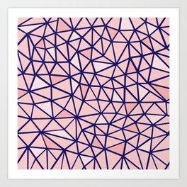 Broken Blush Art Print