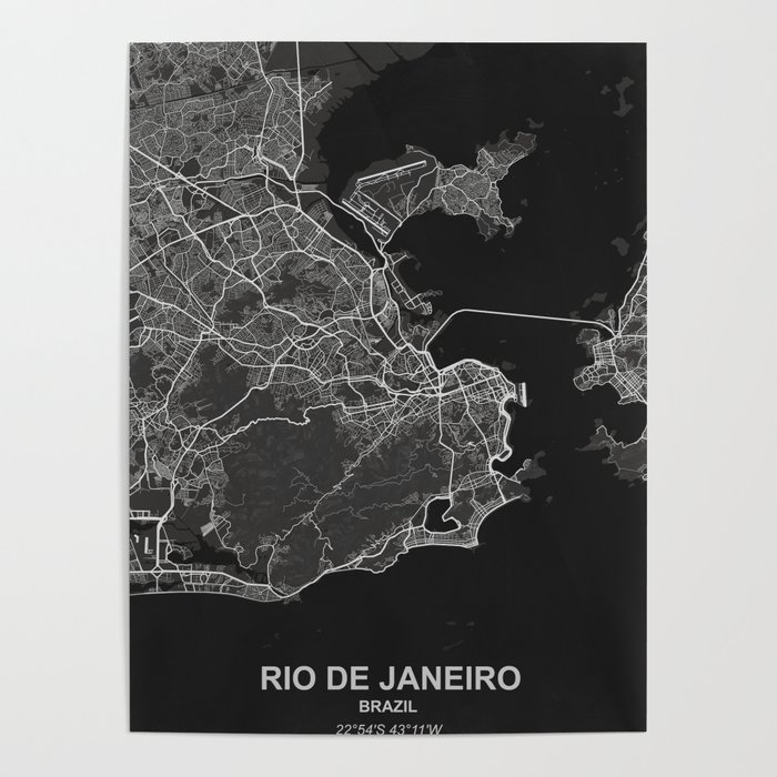 Rio de Janeiro dark Poster