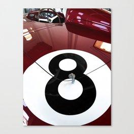 Race car number eight Canvas Print