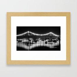 Newport Bridge Framed Art Print