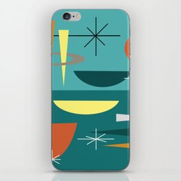 Turquoise Mid Century Modern iPhone Skin
