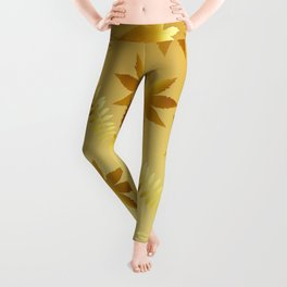 Gold leaves Leggings