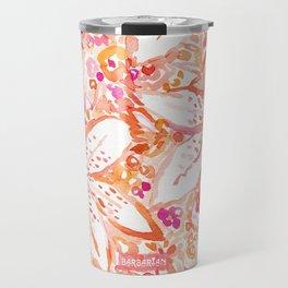 LILY SUNSET Peach Beachy Floral Travel Mug