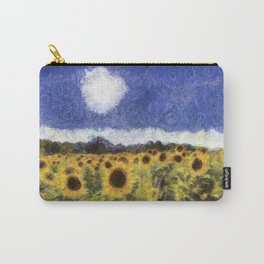 Sunflower Summers Van Gogh Carry-All Pouch