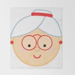 Grandma Christmas Emoji Throw Blanket