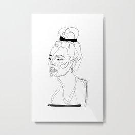 B&W Sketch Metal Print