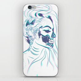 Candy Skull Mermaid iPhone Skin