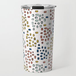 Rectangle Square Doodle Vector Pattern Seamless Primary Travel Mug
