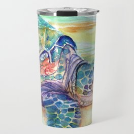 Rainbow Sea Turtle 2 Travel Mug