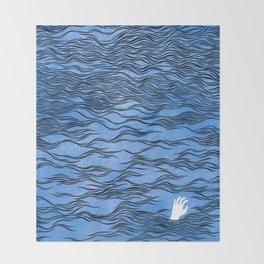 Man & Nature - The Dangerous Sea Throw Blanket