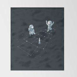 Hopscotch Astronauts Throw Blanket
