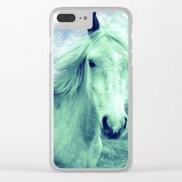 Celestial Dreams Horse Clear iPhone Case