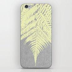 Concrete Fern Yellow iPhone & iPod Skin