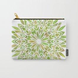Mandala Desert Cactus Green Carry-All Pouch