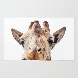 Funny Giraffe Portrait Art Print, Cute Animals, Safari Animal Nursery, Kids Room Poster Rug