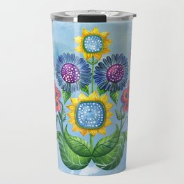 Butterflies and Flowers Travel Mug