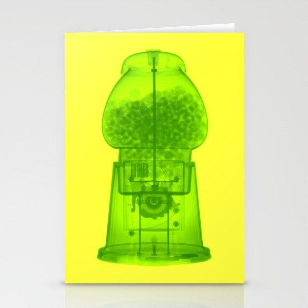 x-ray gum machine Stationery Cards