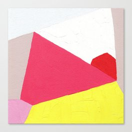 Geometric Abstract Angles: Pink Canvas Print