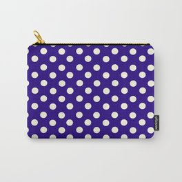 Polka Dot Party in Blue and White Carry-All Pouch