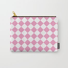 Light Pink Diamond Pattern Carry-All Pouch