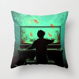 Le Pianoquarium Throw Pillow