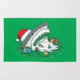The Santa Shark Rug