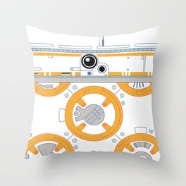 Minimal BB8 Droid Throw Pillow