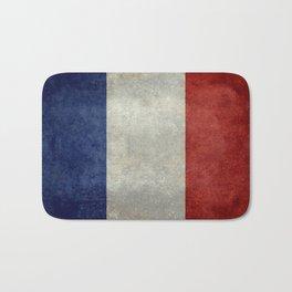 Flag of France, vintage retro style Bath Mat