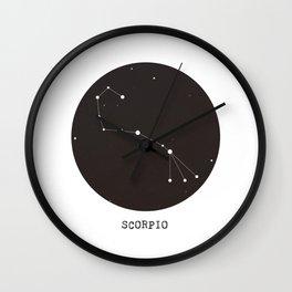 Scorpio Star Constellation Wall Clock