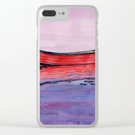 Red Dory Reflections Clear iPhone Case