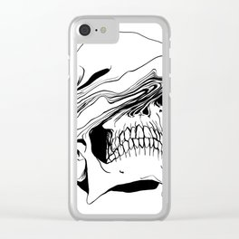Skull #2 (Liquify) Clear iPhone Case
