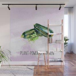 Plant-Powered Kitchen Zucchini Wall Mural