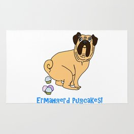 Ermahgerd Pugcakes! Rug