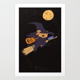 The Best Ber Halloween Witch 2015 Art Print