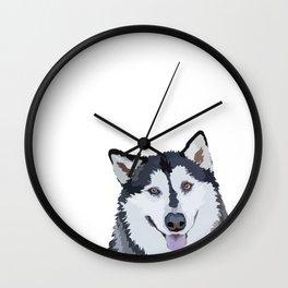 Alaskan Malamute Wall Clock