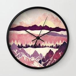 Burgundy Hills Wall Clock