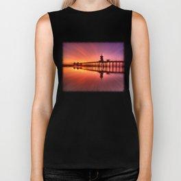 Sunset In Motion Huntington Beach Pier * Photo: Steve Berger Biker Tank