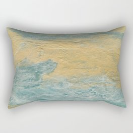 Copper Turquoise #03 Abstract Texture Rectangular Pillow