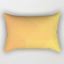 Abstract Geometric Gradient Pattern between Light Orange and Light Yellow Rectangular Pillow