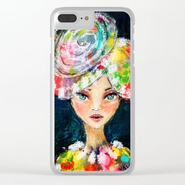 High Society Girl Clear iPhone Case