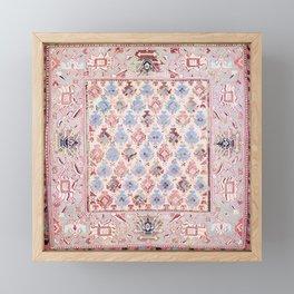 North Indian Dhurrie Kilim Print Framed Mini Art Print